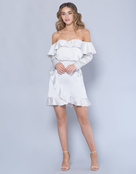LUELLA OFF SHOULDER FRILL DRESS L30D19