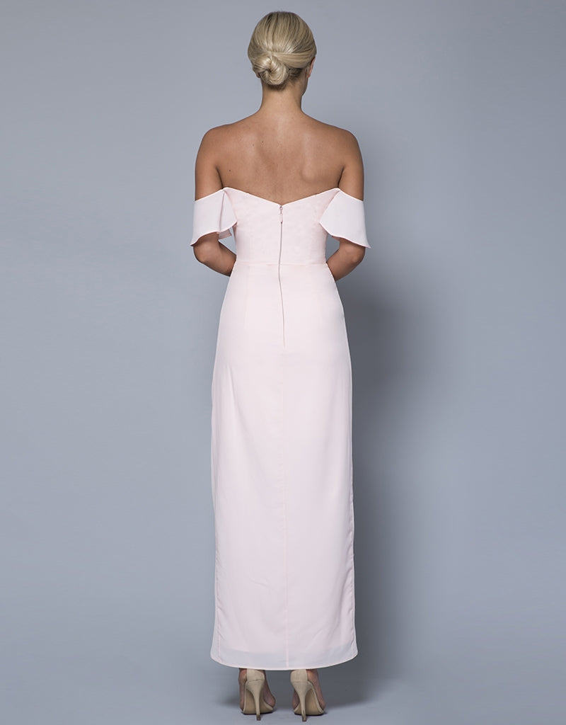 KENDALL STRAPLESS DRAPED GOWN