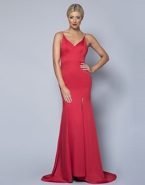 CELIA SATIN DRAPED COWL GOWN B31D46