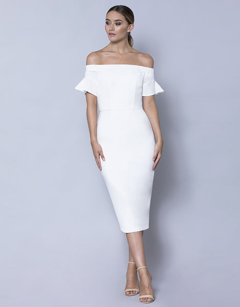 GRACE OFF SHOULDER MIDI L31D26