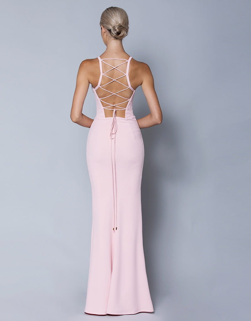 NIMAH STRAPPY BACK GOWN B32D49L