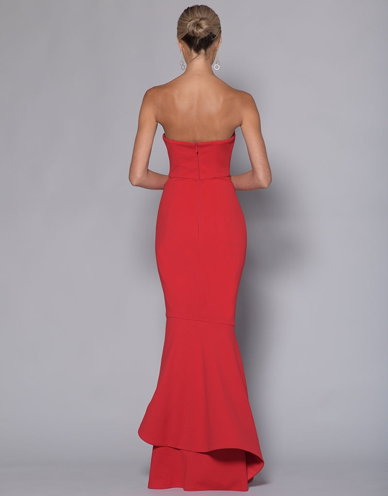 HESTER STRAPLESS DRAPE TRUMPET GOWN BB33D24