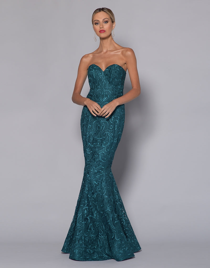 SHERRIE SWEETHEART FISHTAIL GOWN B33D18-L