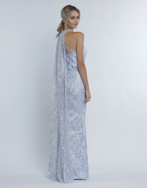 BRINKLEY  CAPE GLITTER GOWN B34D33-LC