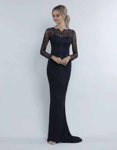 TIEGS LONG SLEEVE CHANTILLY GOWN B34D41-L