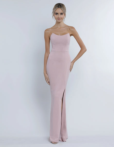 GIA SCOOP STRAPLESS GOWN B34D11-L