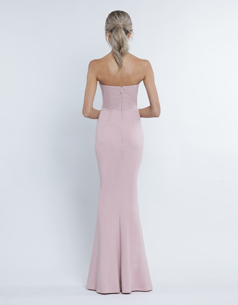 GIA SCOOP STRAPLESS GOWN B34D11L