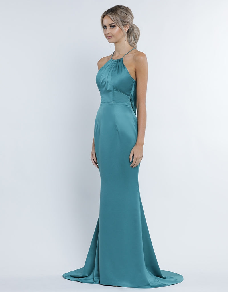 NAOMI SATIN COWL  BACK GOWN B34D17L
