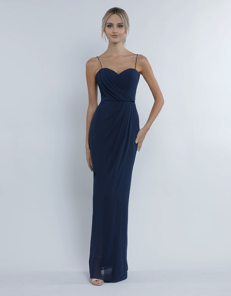CHANTELLE DRAPED CHIFFON GOWN B34D29-L