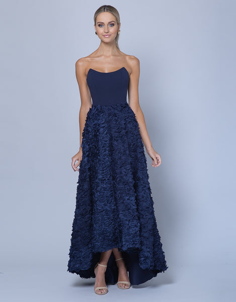JEAN MARIE ROSE TEXTURED GOWN B35D10-HL