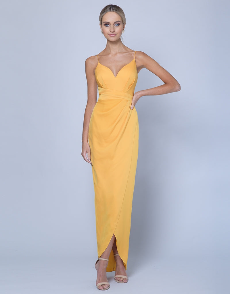 EDEN DRAPED WRAP MIDI