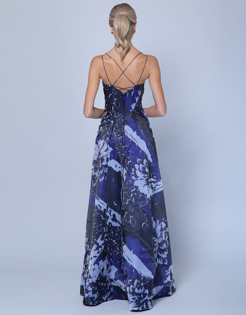 CORALINA HIGH LOW PRINT GOWN - HIGH/LOW SKIRT B35D40-HL
