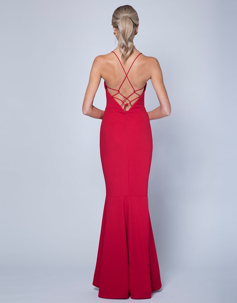 LOVE SCOOP NECK GOWN
