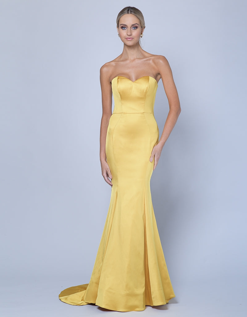 VICTORIA SWEETHEART SATIN GOWN