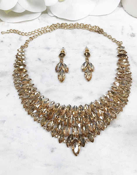 BRITTA NECKLACE AND EARRINGS SET JNE557