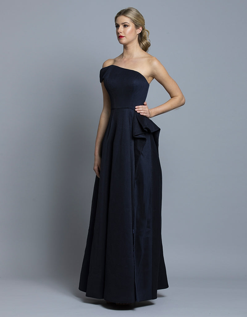 MOLLY ONE SHOULDER BALLGOWN B36D42-L