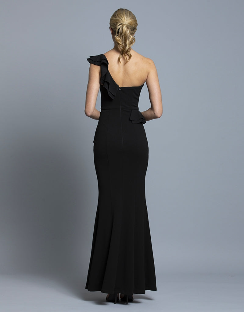 ESTELLA ONE SHOULDER GOWN B36D45-L