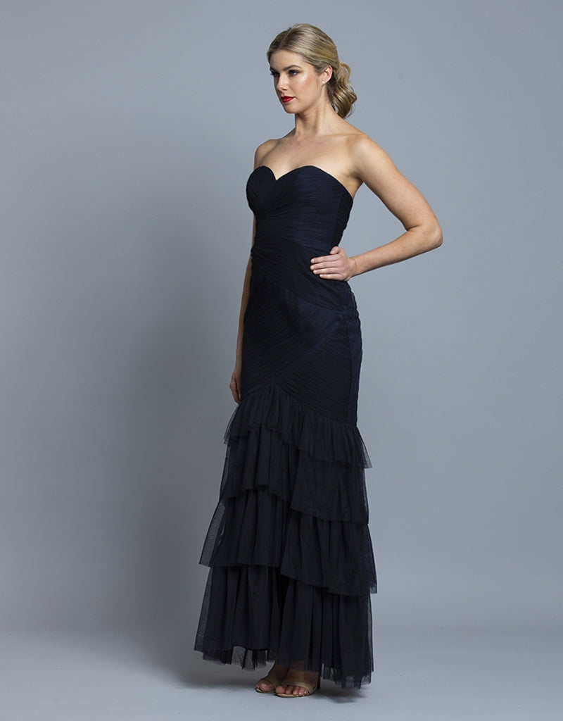 CLAUDIA TIERED TULLE GOWN B36D37L
