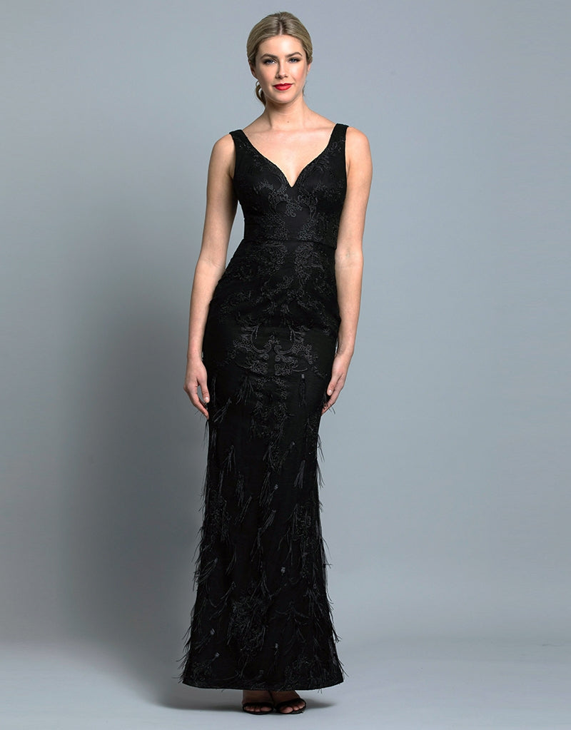 LISA V-NECK GOWN B36D53-L