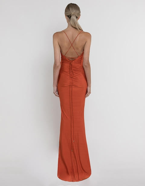 ROSE WRAP DRAPED GOWN B37D50-L