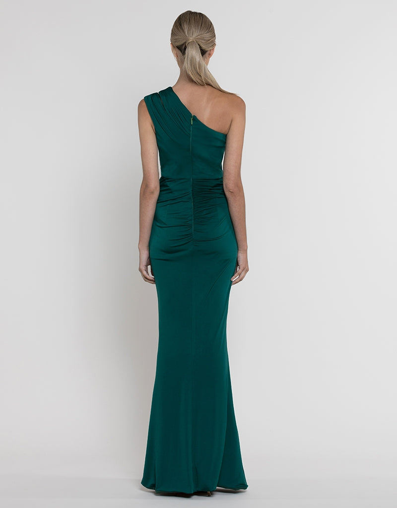 MISIA ASYMMETRIC DRAPED GOWN B37D51L