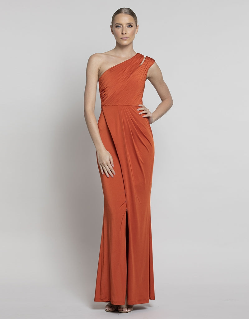 MISIA ASYMMETRIC DRAPED GOWN B37D51-L