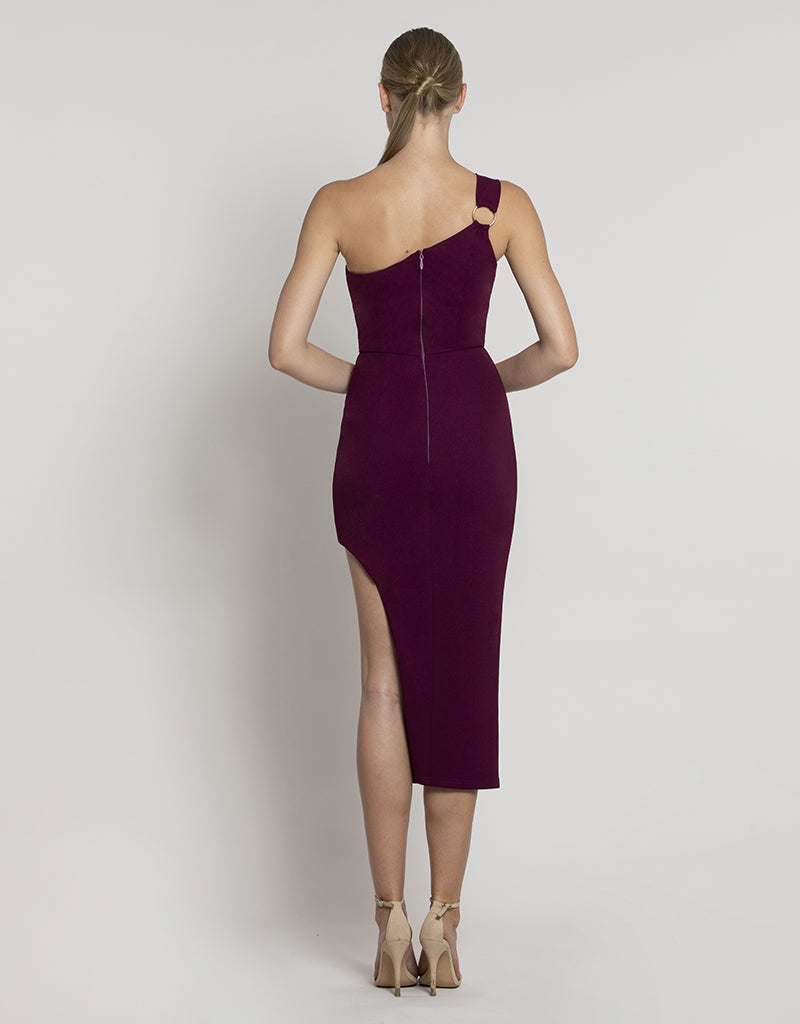 MARTINI ONE SHOULDER MIDI
