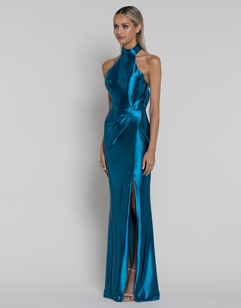 SARAH LIQUID DRAPED GOWN B38D69-L