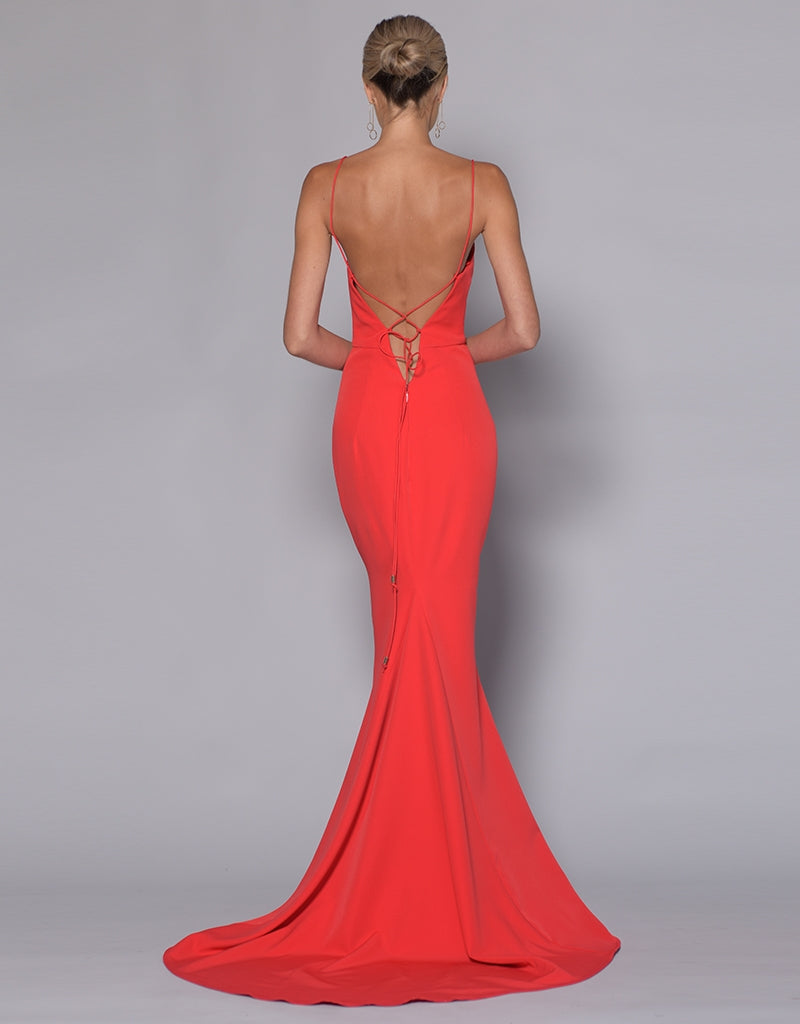 MADE-TO-ORDER // JULIET LOW CUT SPLIT GOWN BB33D29-c