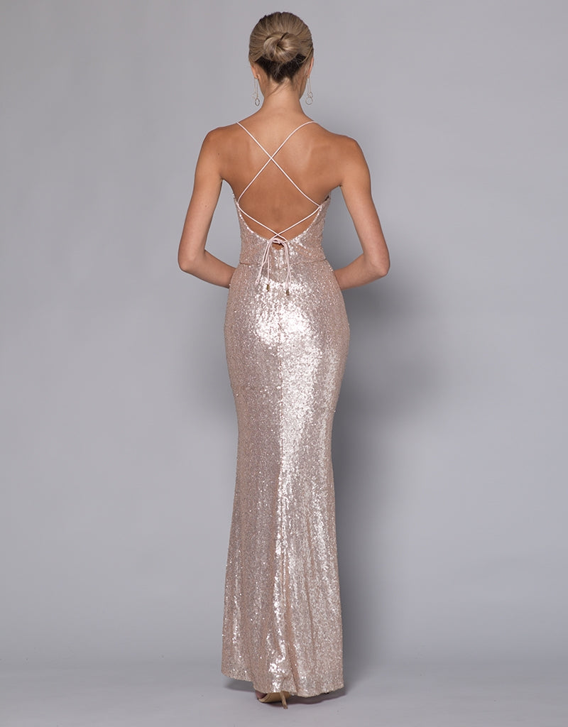 MADE-TO-ORDER // MARIANNE SEQUIN MAXI BB33D20-C