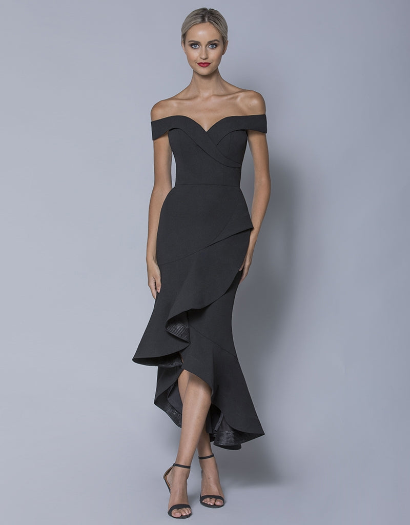 MADE-TO-ORDER // PAISLEE ASYMMETRICAL FISHTAIL MIDI B32D50-C