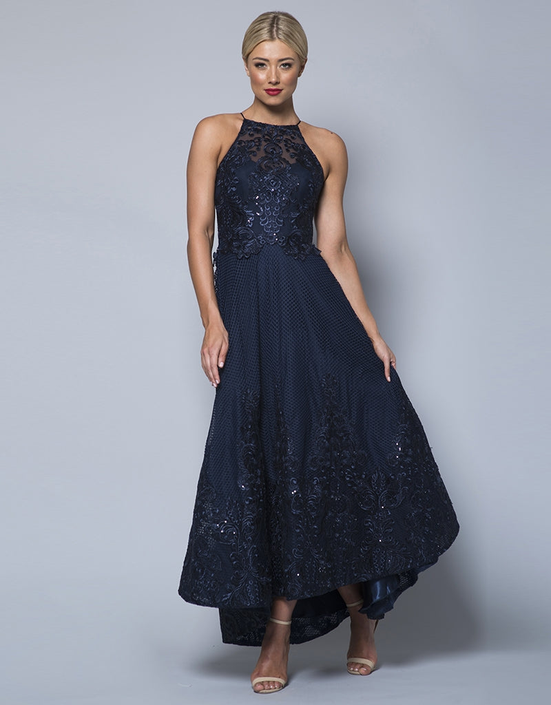 MADE-TO-ORDER // YOANNA CORDED SEQUIN LACE BALLGOWN B31D42-C