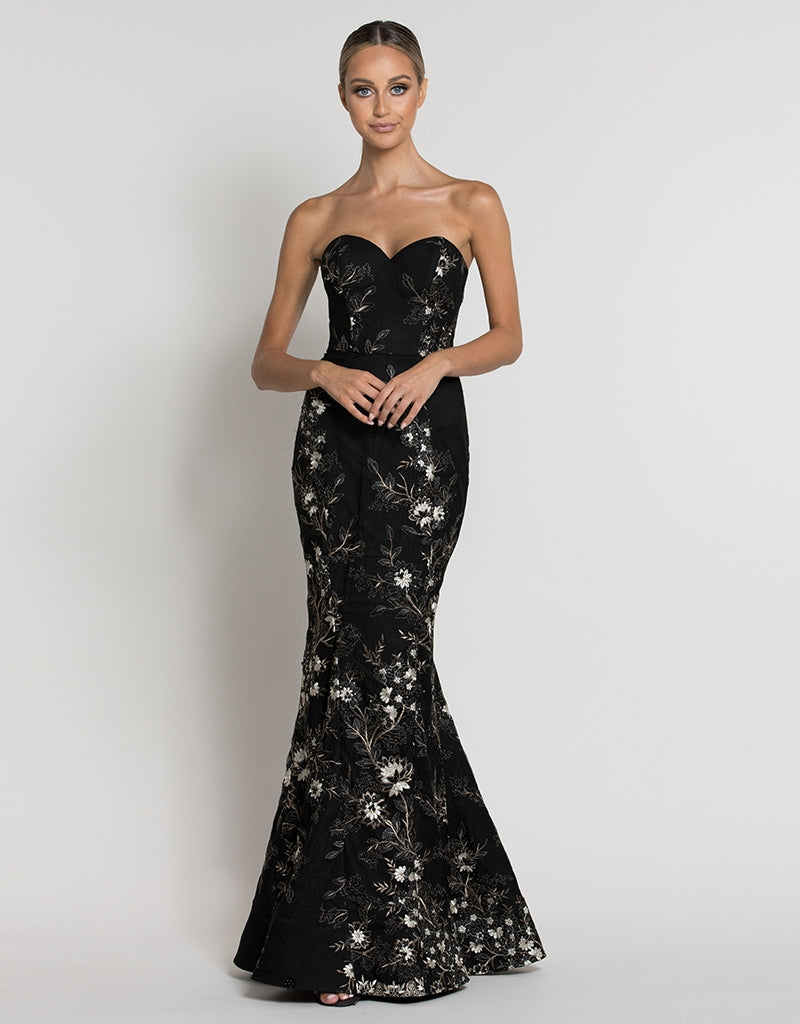 SABRINA SWEETHEART BEADED GOWN B39D44-L