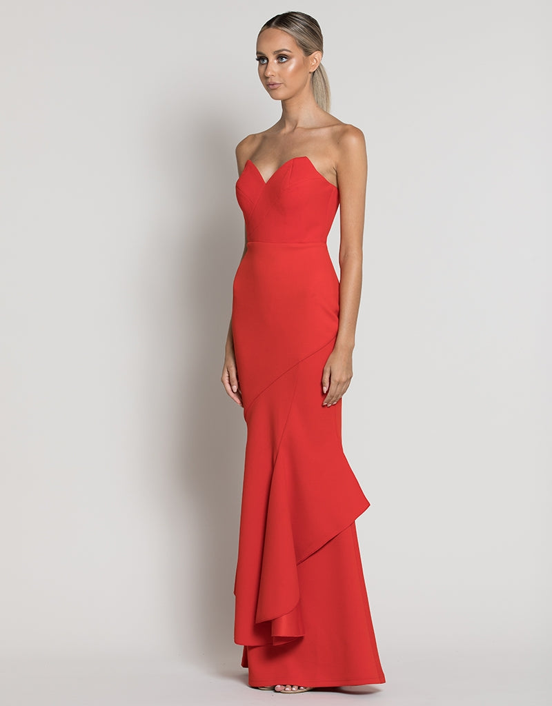 VICTORIA STRAPLESS FISHTAIL GOWN B39D13L