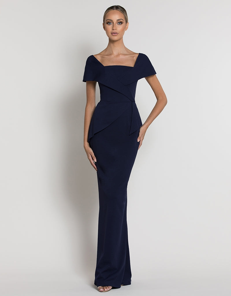 MORGAN CAP SLEEVE GOWN B39D16-L