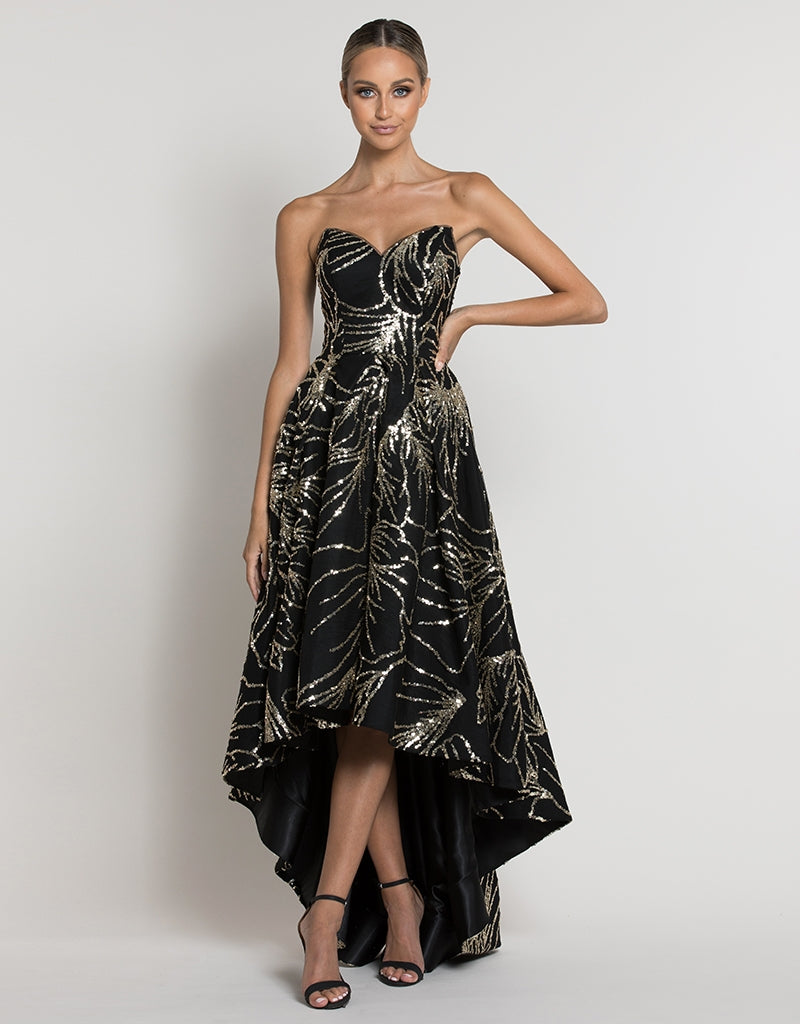 CERES STRAPLESS GLITTER GOWN B39D02-HL