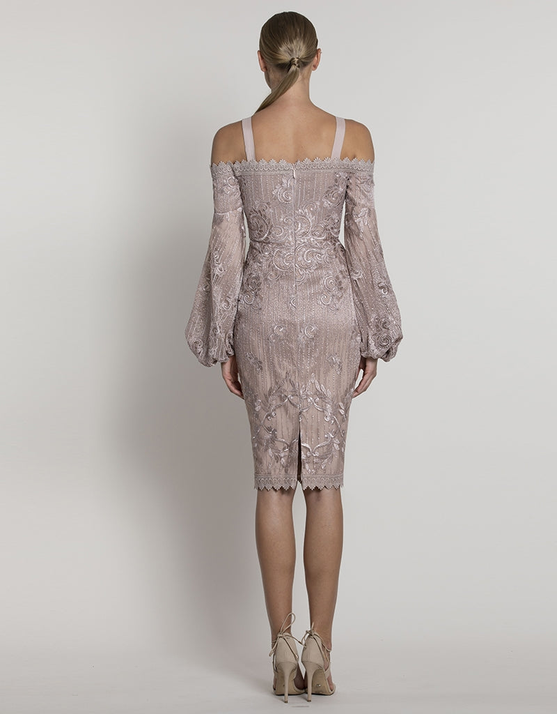 THESSALY CORDED LACE DRESS