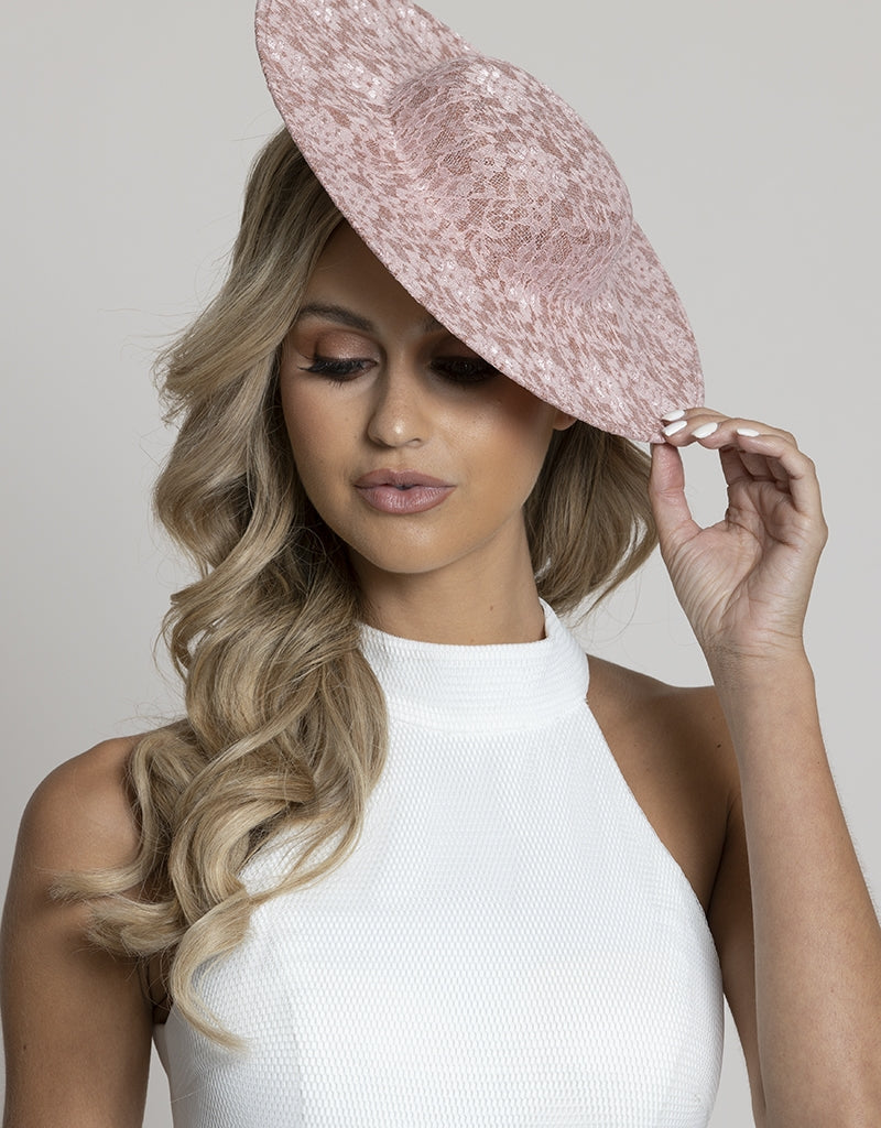 BLAKE LACE BOATER HAT