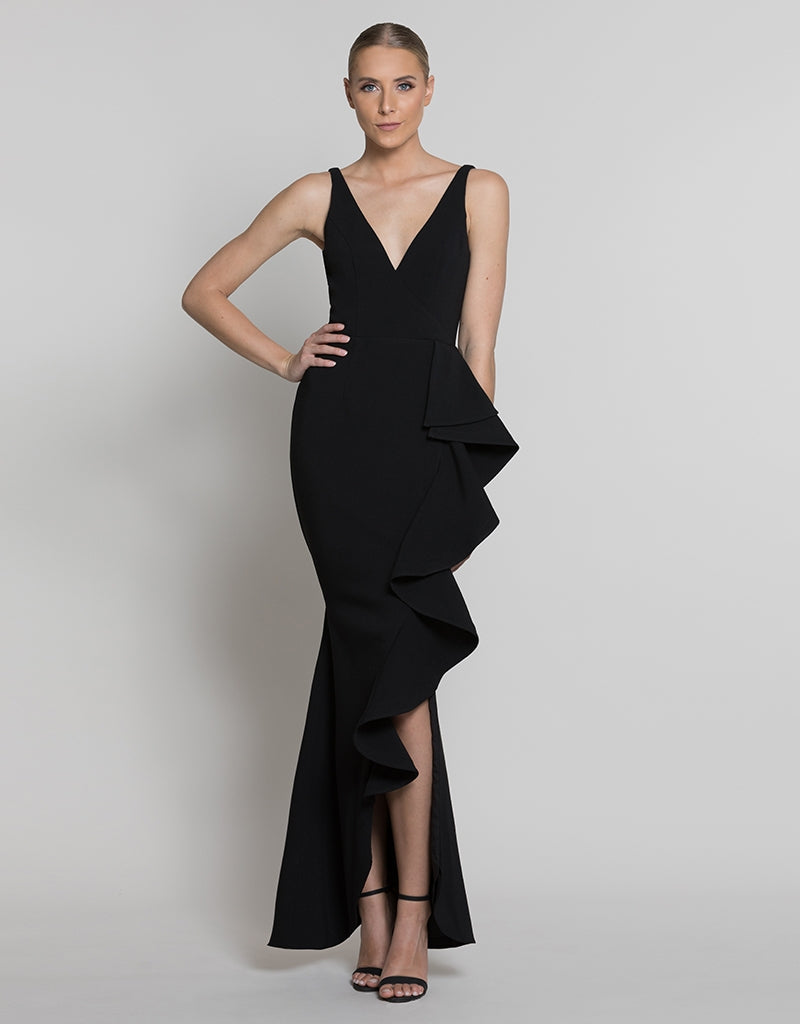 JUNO FRILL GOWN