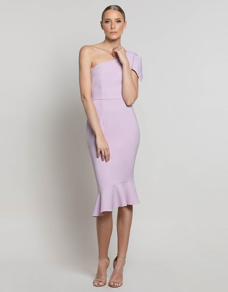 GEMMA ONE SHOULDER MIDI