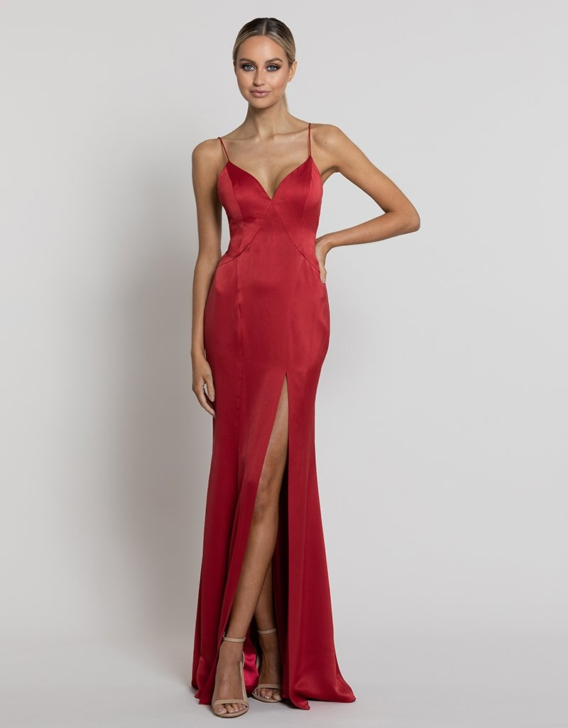 NORA V-NECK GOWN B42D10-L