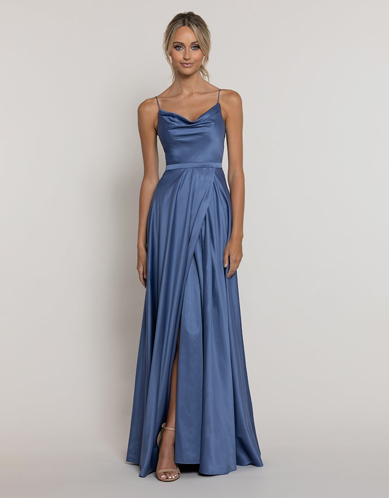 MADE-TO-ORDER // DIAMOND COWL WRAP GOWN B43D11-C
