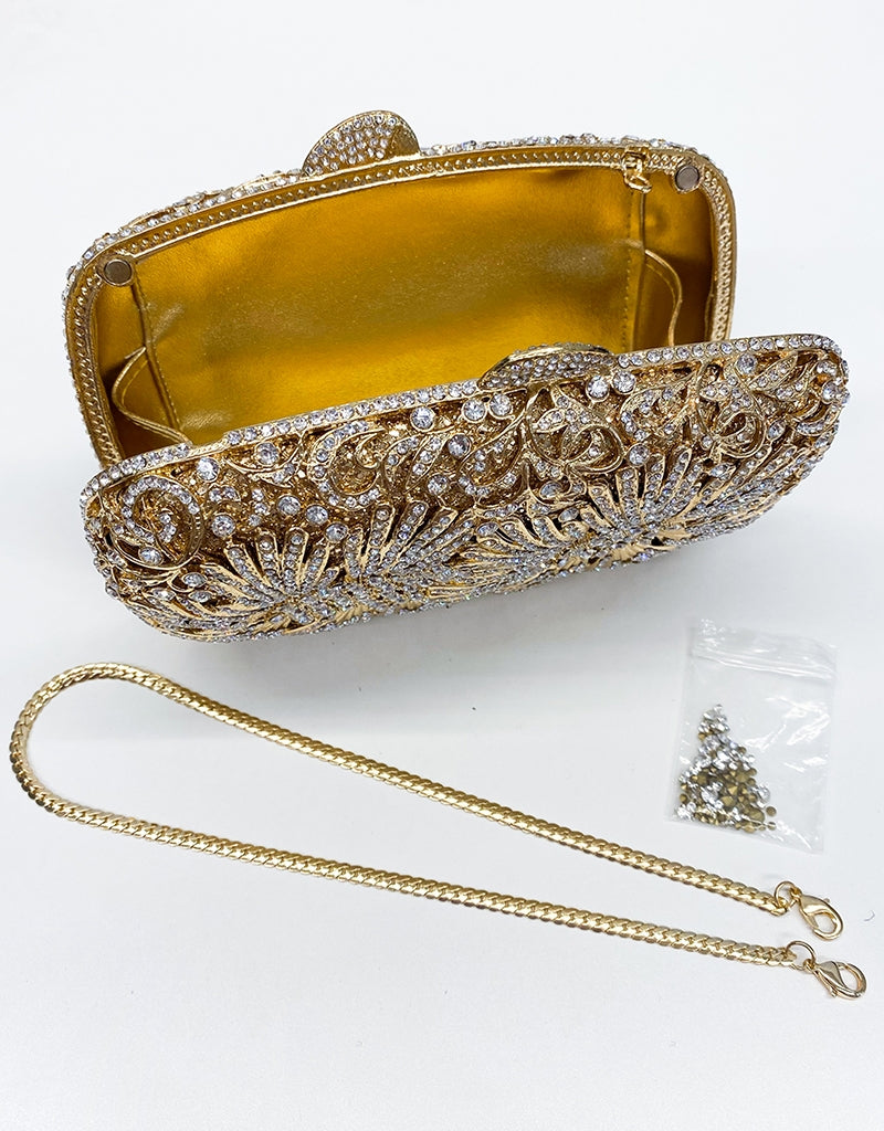 CRYSTAL/ RHINESTONE METAL EVENING CLUTCH BAG1326