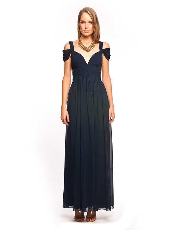 DRAPED SHOULDER GOWN B2D13