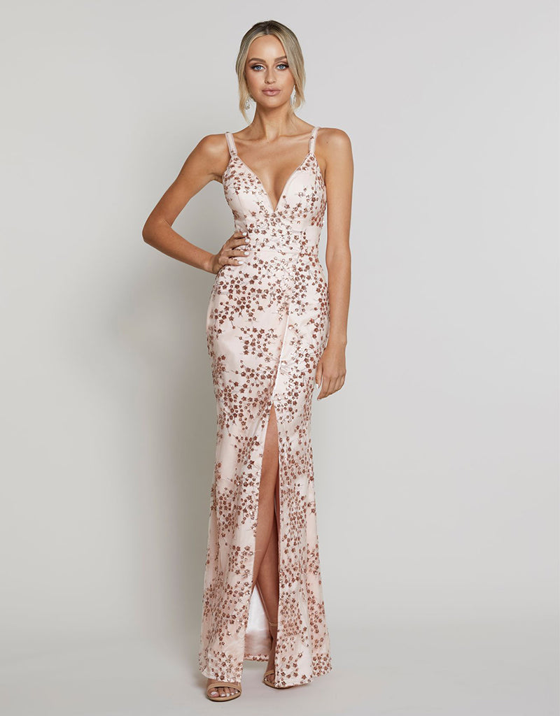 ALYSSA V-NECK GOWN B40D03L
