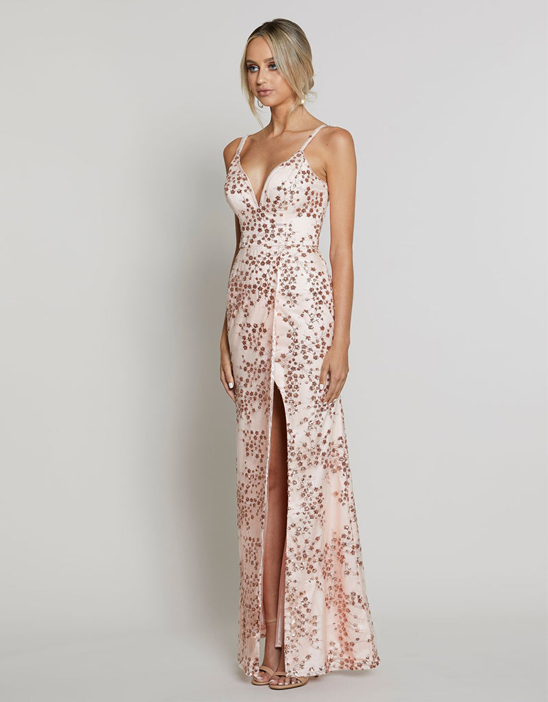 ALYSSA V-NECK GOWN