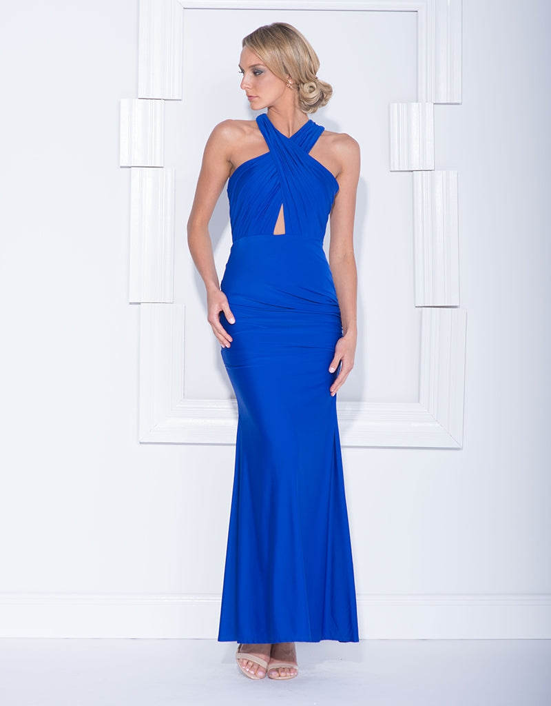 JENNIFER CROSS-OVER FITTED MAXI