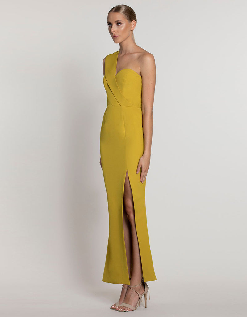 BILLIE ONE SHOULDER SPLIT MAXI L39D09