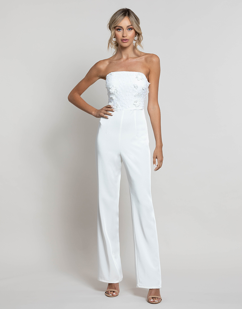 ELEANOR PETAL JUMPSUIT WITH TULLE SKIRT B41J01