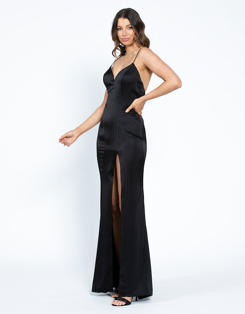 NORA V-NECK GOWN B42D10L